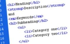 html structural markup using headings and subheads
