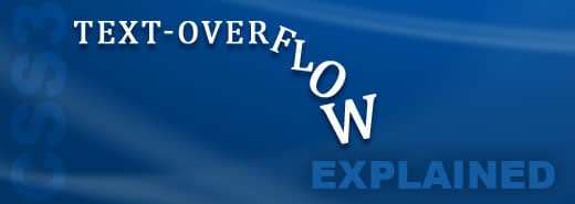 css property text-overflow ellipsis explained - cross browser compatible