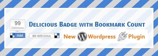 My first wordpress plugin – Delicious Bookmark Button with realtime bookmark count
