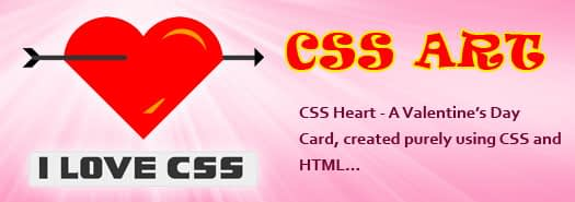 CSS Heart – A web designer way of wishing Valentine's Day…