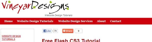 Free Flash CS3 Tutorial