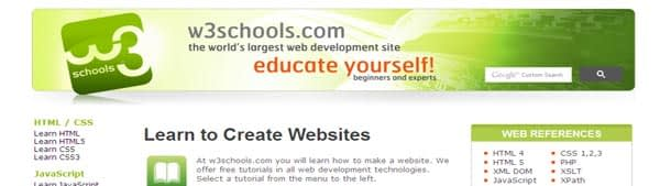 W3 Schools - Learn to Create Websites