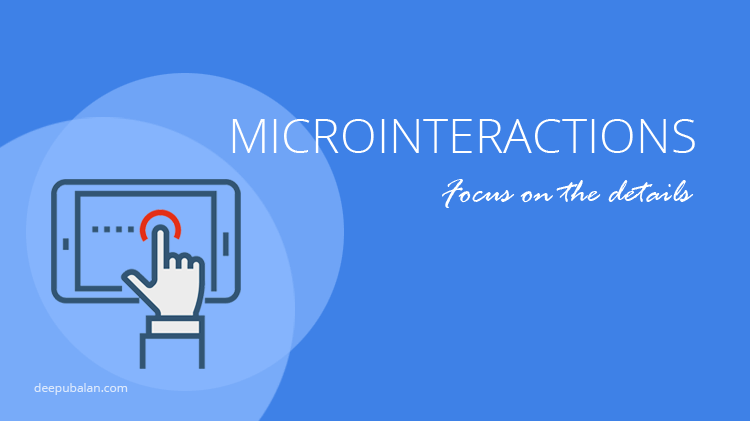 Microinteractions in UI – Focus on the details